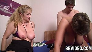 Mature german whores fuck a stud