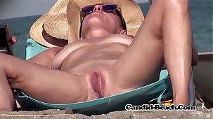 Amateur Nudist Naked Milfs Voyeur SpyCam Hidden Beach