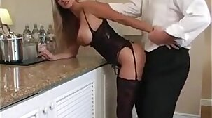 Blonde MILF Wearing Lingerie Wants His Dick HotWifeRio.com