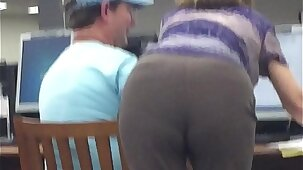 Mature Granny Librarian Bending Over
