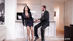 Extremly hot milf gets anally destroyed after a business meeting