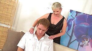 Euro Blonde Mature Fucks Stressed Stepson