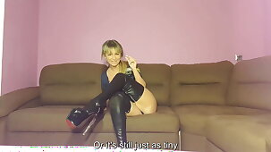 JOI with toys,Mistress masturbates with you.For sissy fags