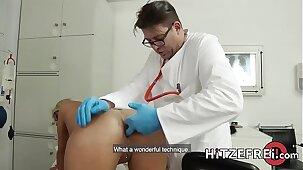 HITZEFREI Busty blonde German MILF fucked by her doctor