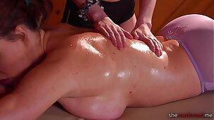 She Seduced Me: Massaging My Stepmom - Krissy Lynn & Kyler Quinn