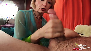 Blonde Deepthroats Big Dick and Has Anal Sex after Masturbation