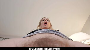 MYLF Boss Masturbates In Front Of Employee