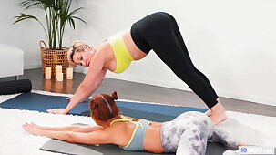 Stepmom And Daughter Having Sex After Yoga
