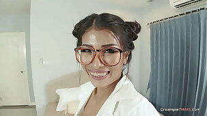 Asian MILF Teacher Creampie