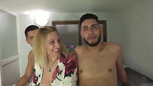 ULTIMATE MILF Nuria wants dicks in pairs!!