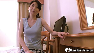Asian mom helps her stepson learn about sex